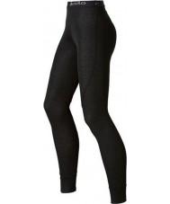 Odlo 150541-15000-M Ladies tendens sorte Long John baselayers bukser - størrelse m (14)
